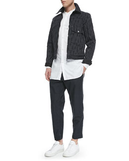 Jeffery Striped Jacket, Mulholland Long-Sleeve Shirt & Wilson Relaxed Trousers
