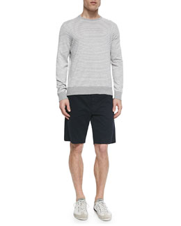 Frederic Striped Crewneck Sweater & Cotton Shorts