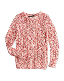 Cable Open-Knit Sweater