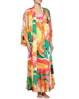 Garbo Printed Long Robe & Gown