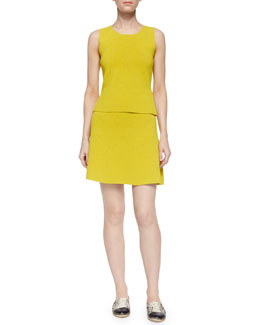 Russell Pointelle Sleeveless Top & Myers Pointelle Flare Skirt