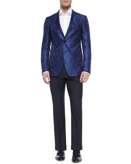 Paisley Jacquard Evening Jacket & Pin Dot Jacquard Evening Pants
