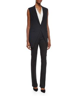 Flavio Modern Suit Vest, Taneah Modern Georgette Blouse & Tenzra Modern Suit Pants