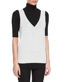 Audria Preen Reversible Sweater Vest & Leenda Turtleneck Sweater