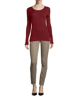 Mirzi Long-Sleeve Ribbed Sweater & Adalwen Jetty Slim Zip-Pocket Pants