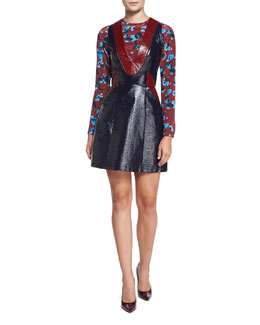 Patent-Coated Sheath Dress & Penelope Ink Spot Top