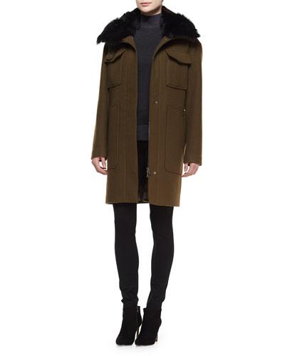 Yvoia Bolton Coat W/Fur Trim, Aletta Idol Sleeveless Top & Adalwen Reversible Ski Pants