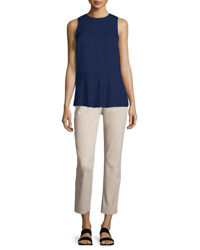 Nicella Modern Georgette Solid Top & Izelle C. Slim-Fit Jetty Pants