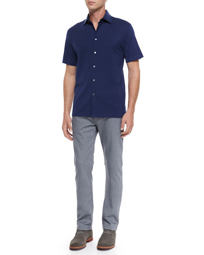 Mister Buttons Polo Shirt & Slim-Fit Denim Jeans