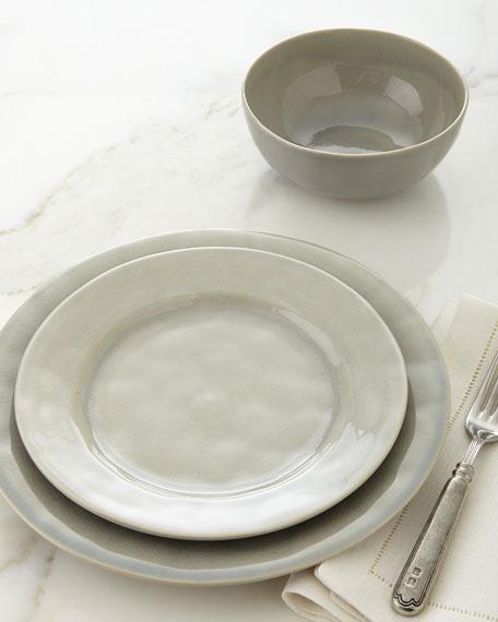 Puro Mist Grey Crackle Dessert/Salad Plate