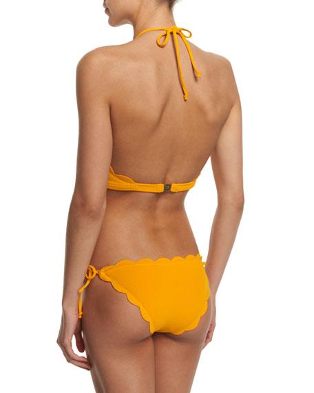 Marysia Mott High-Neck Swim Top & Tie-Side Scalloped Swim ...
