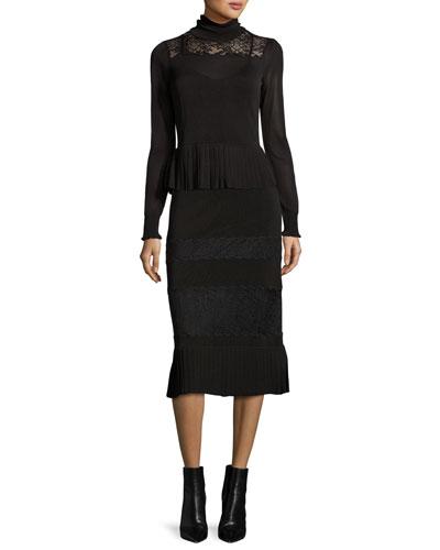 Turtleneck & Maxi Skirt
