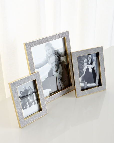"Classic Dove Faux-Shagreen Frame, 8"" x 10"""