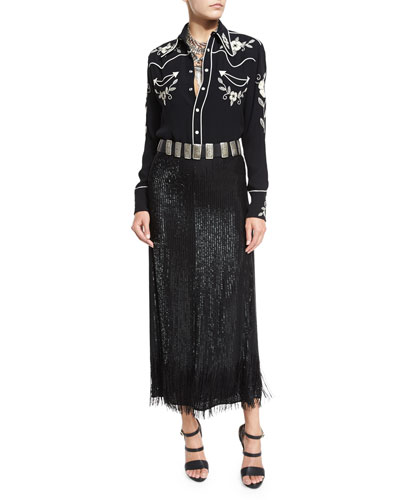 Skirt, Belt & Blouse