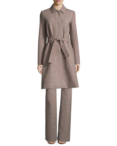 Demitria 2 Check Stretch-Wool Flared Pants and Matching Items