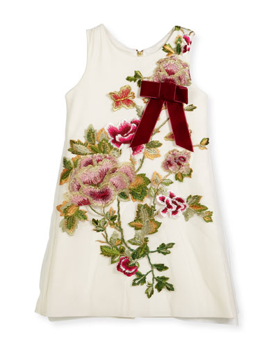 Winter Rose-Embroidered A-Line Dress, Size 4-6X and Matching Items