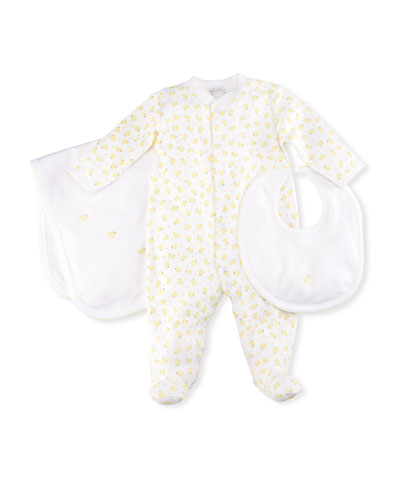 Solid Duck Embroidery Pima Baby Blanket  and Matching Items