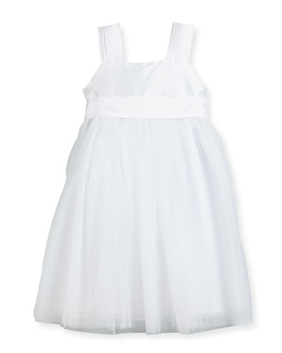 Venice Pleated Straps V-Back Dress  White  Size 4-6 and Matching Items