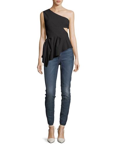Tori High-Waist Denim Skinny Jeans and Matching Items