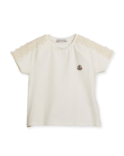 Maglia Short-Sleeve T-Shirt w/ Lace Trim, Size 4-6  and Matching Items