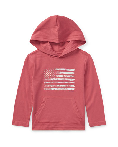 American Flag Jersey Hoodie, Red, Size 5-7  and Matching Items