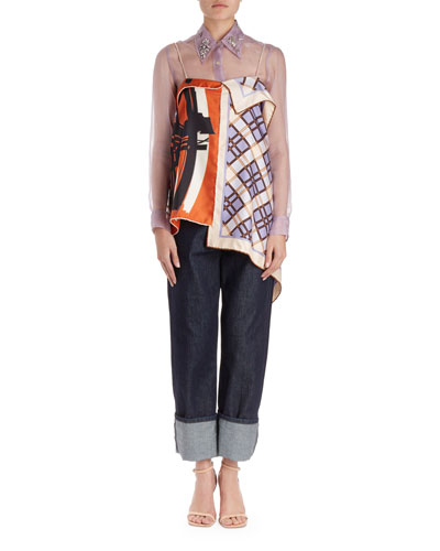 Chors Mixed-Print Foulard Cami Top and Matching Items