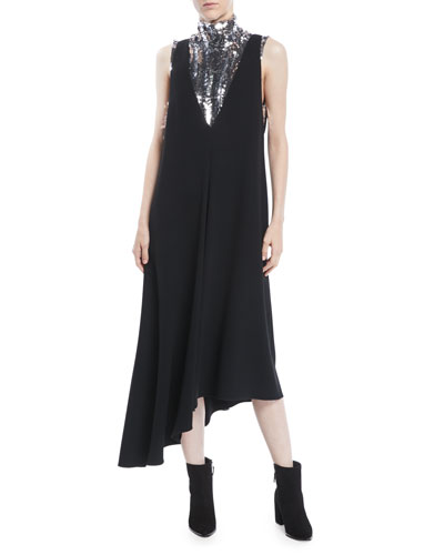 Turtleneck Sleeveless Sequin Shell and Matching Items