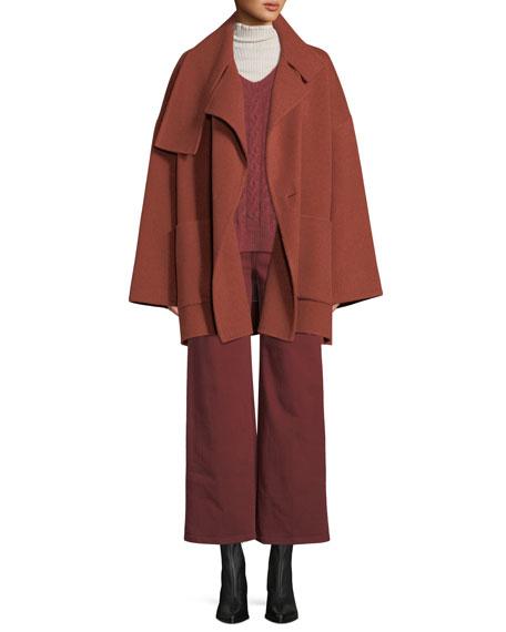 Oversized Wool Blanket Coat