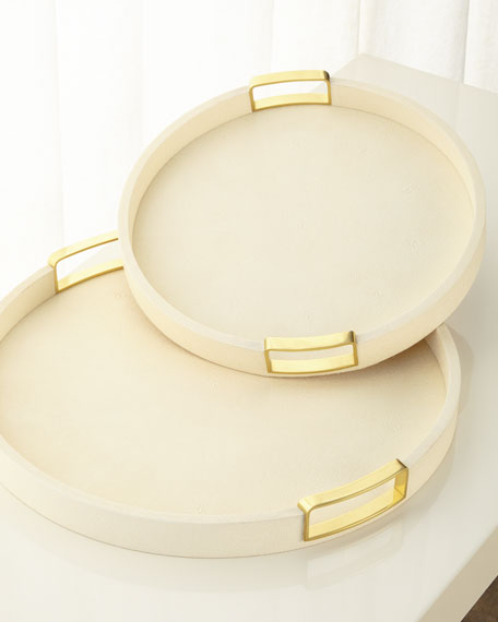 Carina Shagreen Small Round Tray
