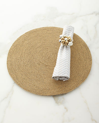 Drift Zigzag Napkin  White/Gold/Silver and Matching Items