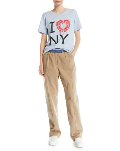 I Love NY Crewneck Short-Sleeve Tee and Matching Items