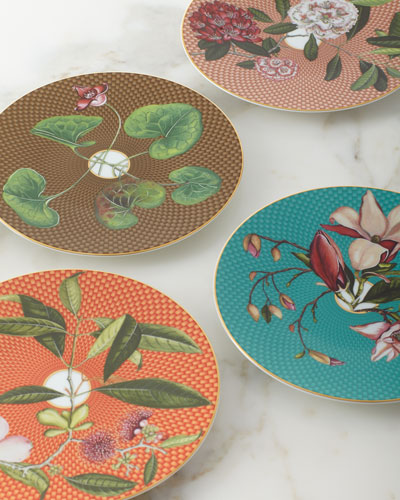 Tresor Fleuri Rhododendron Dessert Plate  and Matching Items
