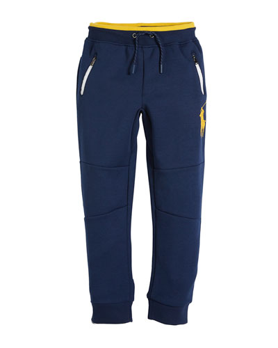 Logo-Embroidered Drawstring Sweatpants, Size 2-4  and Matching Items
