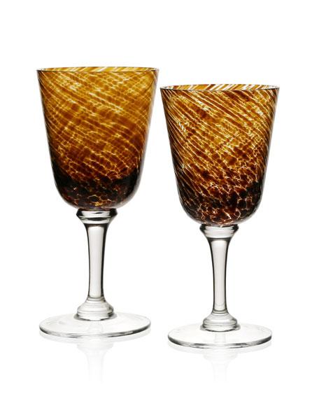 Vanessa Glass Water Goblet, Tortoise