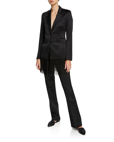 Briggs Flared-Leg Silk Trousers and Matching Items