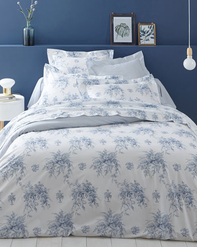 Evanescence 200 Thread Count Toile King Flat Sheet and Matching Items