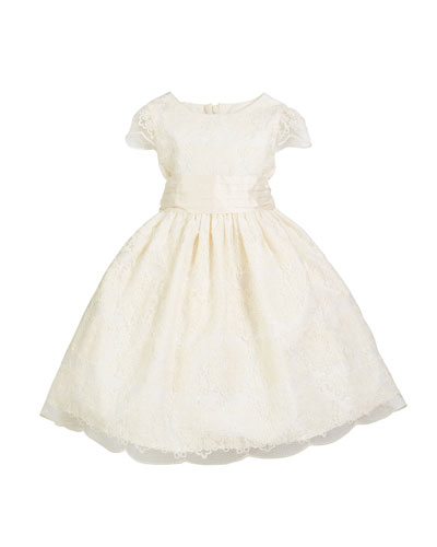 Scallop Lace Bow-Back Dress, Size 7-10  and Matching Items