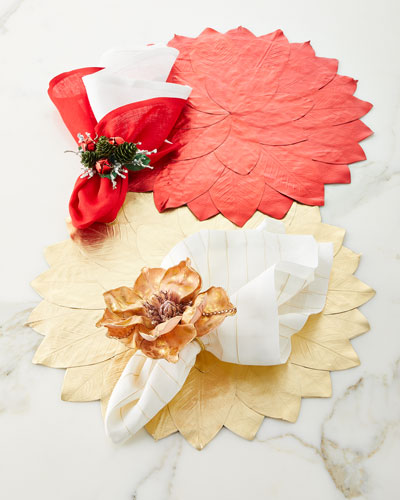 Metallic Magnolia Placemat  and Matching Items