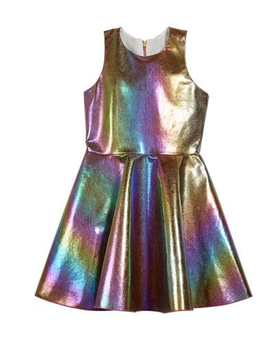 Josie Iridescent Rainbow Foil Dress