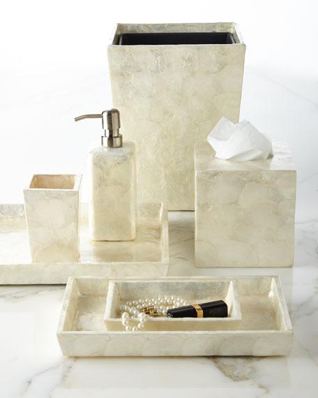 Andria Capiz Vanity Trays, Set of 2