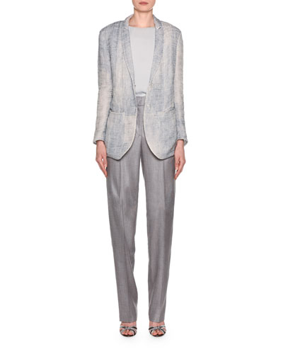 Gauze Jacquard Blazer and Matching Items
