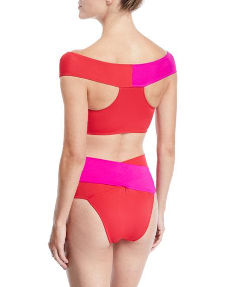 Lucette Off-The-Shoulder Bikini Top