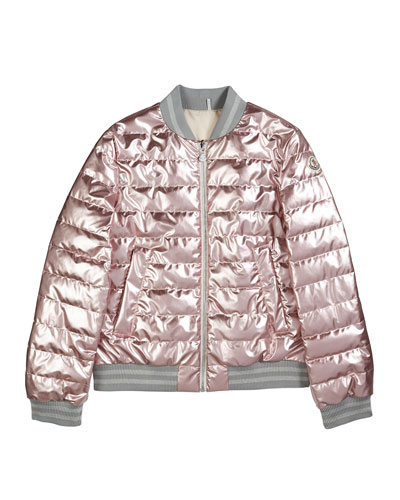 86184c17ece Metallic Quilted Bomber Jacket Size 8-14 and Matching Items