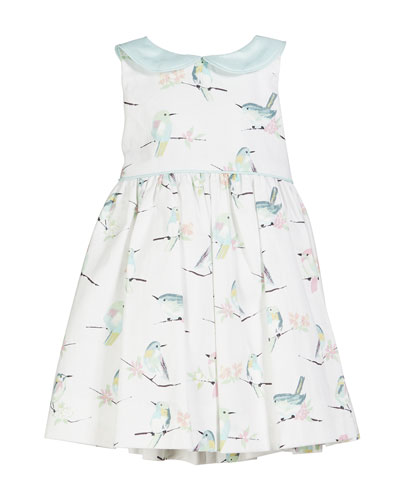 9ce8c62f177 Bird Print Collared Dress Size 12M-4T and Matching Items