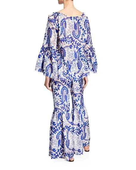Giselle Tassel-Tie Printed Top