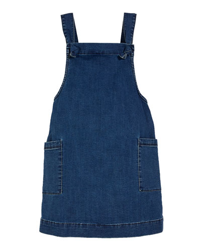 Girls' Joslyn Sleeveless Denim Dress  Size S-L  and Matching Items