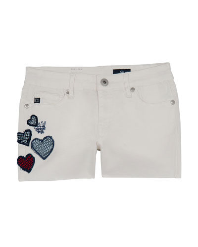 Girls' Lyla Shorts w/ Heart Patches  Size 4-6X  and Matching Items
