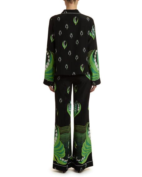 Lily Crepe de Chine Pajama Blouse
