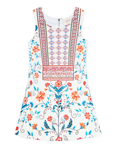 Floral & Aztec Print Sleeveless Dress  Size 4-6X  and Matching Items