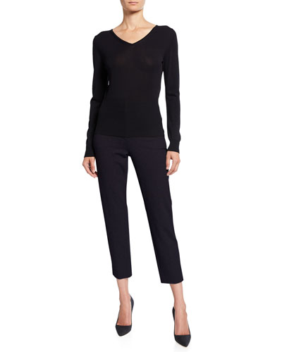 Long-Ssleeve Jersey Ribbed Sweater and Matching Items